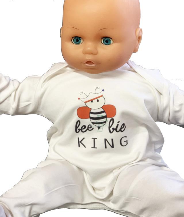 Koningsdag baby jumpsuit beebie King en Queen