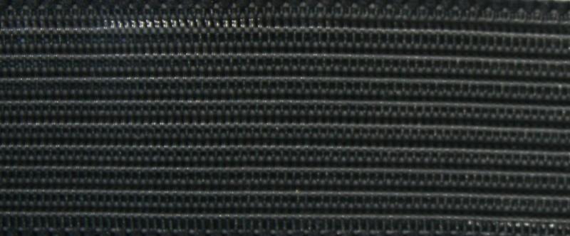 Doorstik taille elastiek 25 mm zwart