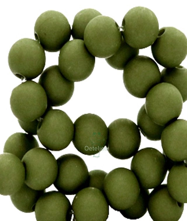 Acryl kralen mat rond 8mm dusty olive green