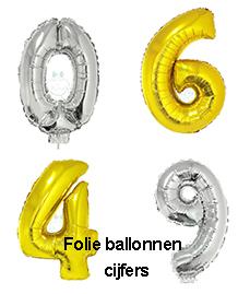 Folie ballon met cijfer