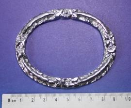 Messing staartstuk voor een grote Zaanse klok, verchroomd, 90 mm