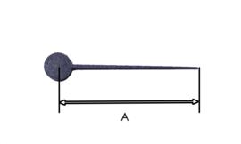 MQ51 kunststof secondewijzer voor miniquartz, 35 mm