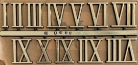 SC21 Kunststof Romeinse cijferset 1-12, 25 mm