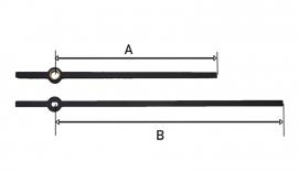 mod76.15 zwarte moderne wijzerset voor quartz 100/140 mm