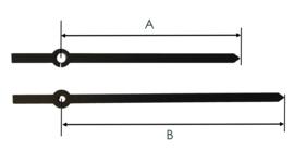 BE96 Moderne wijzerset voor quartz met klemfitting (ook radio gestuurd), 96/121 mm