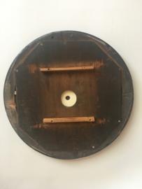ODB04 glazen en houten wijzerplaat oeil de boeuf met romeinse cijfers