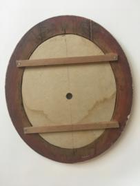 ODB05 glazen en houten wijzerplaat oeil de boeuf met romeinse cijfers
