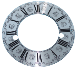 109.25 Aluminium chapter ring, etched decor, 133 mm
