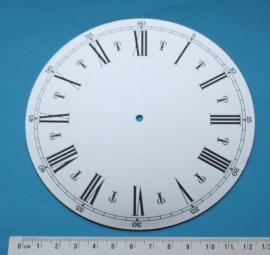 109.21 Aluminium clock, Roman figures, 130 mm