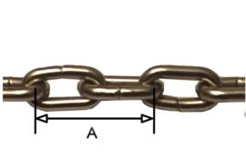 112.2 Messing schakelketting (o.a voor SBS klein) A=13,5 mm