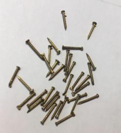 set koperen draadnagels met bolkop, 7 mm