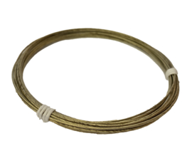 K488 verkoperd stalen kabel, 0,80 mm x 350 cm.