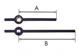 m27.5 Wijzerset voor quartz model 'modern' in zwart, 42/64 mm