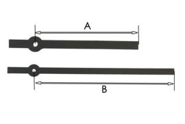 cos46 zwarte moderne wijzerset voor quartz 100/135 mm