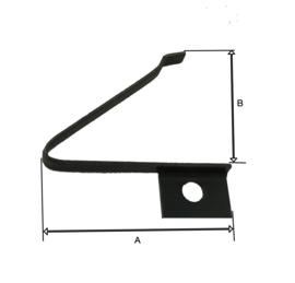 P58 palveer, links, buiten bevestiging,  A=19 mm