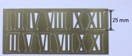 cs419 messing Romeinse cijfersset, 25 mm