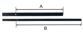 XL70 Zeer lange quartz wijzers, modern, 270/370 mm