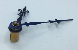 FRW 09. Pendule wijzers,  blauw staal, Franse lelie, 50/60 mm