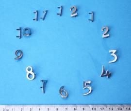 113.8 Hoogglans verchroomde cijferset, hoogte ca 16 mm
