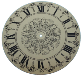 109.22 Aluminium clock dial, Roman figures, 130 mm