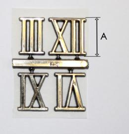 sc012 Kunststof Romeinse cijferset bestaande uit 3, 6, 9 en 12. (21 mm)