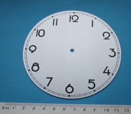 109.10 Aluminium clock dial Art deco style, 108 mm