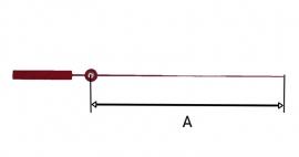 304.r. secondewijzer voor quartz in rood, 100 mm, Duitsland