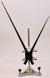 QEF 62. Extreem lange wijzers voor extra sterk quartz of electrisch uurwerk, zwart,  330/450 mm