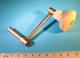 Sleutel voor groot uurwerk/zware gewichten, maat: 4.50 mm