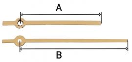 mod32.10 moderne wijzerset voor quartz, goudkleur.  75/100 mm