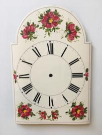 sw.16 Schwartzwalder/appelklok wijzerplaat wit met romeinse cijfers en bloemen