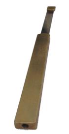 L46 slingerveer voor Friese staartklok of Engels staand horloge met extra lang gaffelblok, 135 mm, Engeland