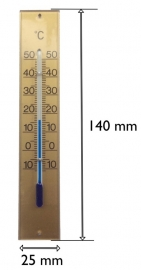 108.82 opbouw thermometer, kunststof 140 mm