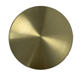 B42.Losse messing slingerlens, geslepen, diameter 55 mm