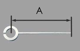 MQ03 wijzer voor miniquartz Q8 met alarm functie, 30 mm