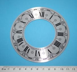 109.9 Geslepen aluminium wijzerrand, 110 mm