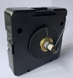 sch997 Quarzt wijzerset, model 'schoppen' zwart 18/25 mm