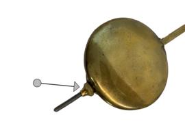 stelmoertje voor  slingerstaafje voor diverse klokken met slinger waaronder Hermle