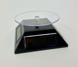 T92 Display draaitafel op zonne-energie, zwart