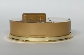 CH12 Insteek quartz met Romeinse cijfers, goudkleur, 150mm