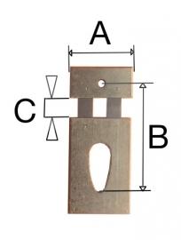 12032.43 B=17.0 mm voor haakslingers zoals comtoise