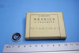 rev-2.0 Opwindveer voor wekker 2,5 x 0,20 x 550 diameter 16 mm