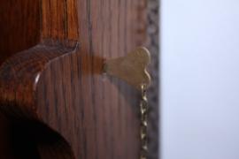 Messing insteekpen met ketting voor Friese staartklok 35 mm