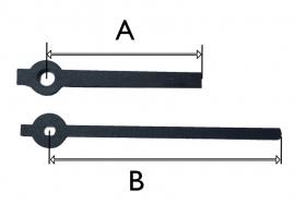QEF387 moderne wijzerset voor quartz 45/67mm