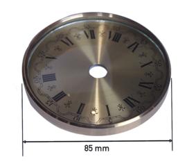 Messing wijzerplaat met glas en accessoires, 85 mm