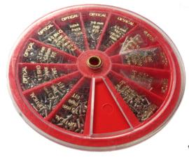 H99.1 mini schroefjes voor horloges, zakhorloges en brillen, ca 1000 st.