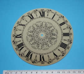 109.22 Aluminium clock dial, Roman figures, 130 mm