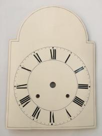 sw.10 antieke Schwartzwalder/appelklok wijzerplaat wit met romeinse cijfers