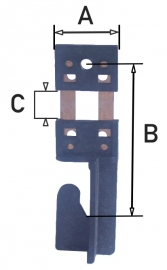 12043.55 Slingerveertje voor Urgos uurwerk B=19 mm, klein