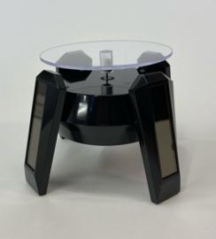 T92 Display draaitafel op zonne-energie met LED verlichting, zwart